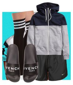 """""""Friday lazy day (Thalia's outfit)"""" by baby-trilldolls ❤ liked on Polyvore featuring Charlotte Russe, NIKE and Givenchy"""