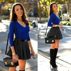 Sheinside Wool Circle Skirt, Daily Look Black Messenger Bag, Shari Couture Crab Necklace, Shoe Dazzle Black Boots, Shari Couture Crab Ring