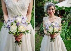 white blue wedding flowers bouquet, image by Draw Down The Stars http://www.drawdownthestars.com/