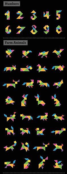 Vemos que Tangrams tiene distintas utilidades, desde contar, formar animales y dibujos divertidos con figuras geométricas