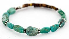$80 Retail Tag Authentic Made by Charlene Little Navajo Natural PILOT MOUNTAIN Turquoise Native American Bracelet. Native-Bay has the largest online selection of Authentic ONLY Native American Jewelry. All stones used are Natural and hand-picked by the Native American artist. NEW condition with retail tag still attached. You will receive what you see in pictures, if the item is a pendant and it is photographed with a chain attached, you will receive the chain as well. Rings can be resized to…
