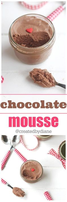 chocolate mousse recipe for great tasting and wonderful texture mousse @createdbydiane