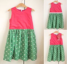 Free Pattern, Tutorial and Sewing Video – A simple dress. Bodice sizes (EU) 86-140