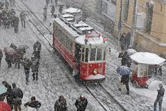 Snow in Istanbul February 2015