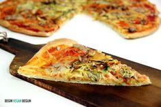 Pizza de verduras vegana (Begin vegan begun)