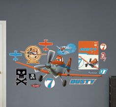 Disney Planes Wall Decals Rusty Party Cool Walls Bedroom Themes