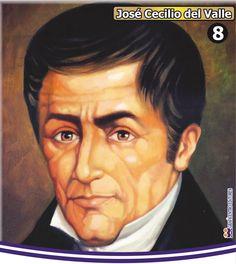 """José Cecilio del Valle nació en Choluteca el 22- 11-1780. Filósofo, catedrático, político, abogado y periodista hondureño. Escribió sobre matemáticas, filosofía, geografía y derecho entre otros. Un hombre de ideas moderadas que creyó en el derecho de los pueblos a obtener su libertad y en los cambios socio-políticos. Redactó el Acta de Independencia de Centro América, fundo el periódico """"El amigo de la Patria"""", y fue Vice-presidente de la República de Centro América."""