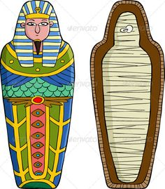 Illustration about The sarcophagus on a white background vector. Illustration of cute, human, vector - 24873402 Egyptian Drawings, Egypt Crafts, Clipart Gallery, Egypt Mummy, Egyptian Mummies, Ancient Egypt Mummies, Web Design, Book Projects, Illustrations