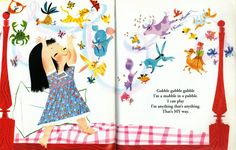 "| I Can Fly | Illustration from I Can Fly, a Little Golden Book first published in 1951. Written by Ruth Krauss. Illustration by Mary Blair.Wydane: ""A Golden Book"", New York, USA, 2003."