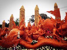 เทียนพรรษาทองคำ! แห่งแรกและหนึ่งเดียวในโลก @ วัดกุดลาด Candle Festival 2015 #ubon #อุบล Cr. https://www.facebook.com/apichart.auy?fref=photo