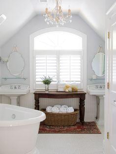 Cottage ~ Bathroom with vintage table