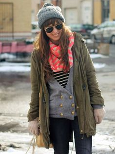 Cashmere Neon Scarves,Pink Stripe Cashmere Scarves for Fashion Girls, Soft-Knit Neon Scarves in 2013 Fall/Winter