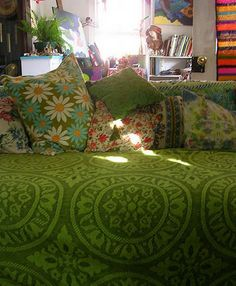 Warmth, comfort and a good book.Love this green.