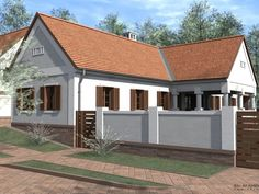 "Akácos ""A"" jelű ház - Casa Rustica Parasztházak Cottage Homes, Traditional House, House Plans, Shed, Exterior, Outdoor Structures, House Design, Contemporary, Interior Design"