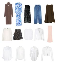 Mom Capsule Wardrobe - Blouses and Dresses by nuhaa on Polyvore featuring Melissa Odabash, Chloé, Vince, Oats Cashmere, rag & bone, Sea, New York, Joseph, WearAll, Miss Selfridge and Alexander McQueen
