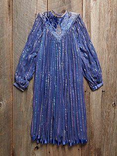 Vintage Striped Gauze Dress