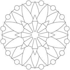 Mandala-Ausmalbild Nr. 9