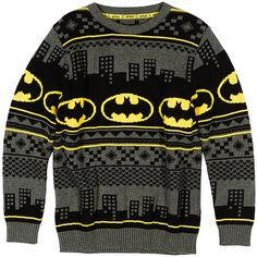 Batman Chirstmas Jumper (5-14 Years) M&S ($31) ❤ liked on Polyvore featuring tops, sweaters and shirts