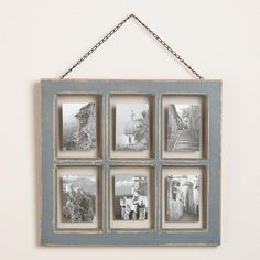 One of my favorite discoveries at WorldMarket.com: Gray Vintage 6-Photo Frame to display engagement photos