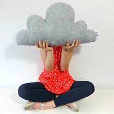 Grey Cloud Cushion by Claireoncloud9.com