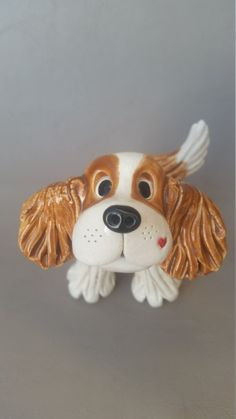 Cavalier King charles Spaniel sculpture hand sculpted by Pencepets