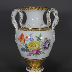 Meissen Schlangenhenkelvase Schlangenhenkel Vase Prunkvase Henkelvase porcelain | eBay