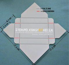 Tissue Box, measurements for SU Envelope Punch Bord. Verpackung für Taschentücher