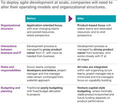 An operating model for company-wide agile development http://www.mckinsey.com/business-functions/business-technology/our-insights/an-operating-model-for-company-wide-agile-development