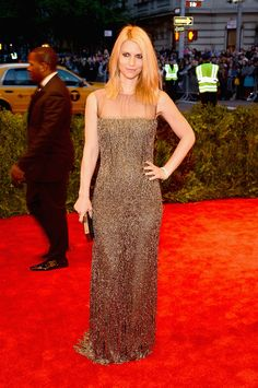 Met Gala 2013 - Claire Danes in Oscar de la Renta I really love her punk look, reminds me of My So Called Life