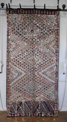 So glimmery and beautiful.  Moroccan tribal #carpet #rug and/or large wallhanging from Red Thread Souk