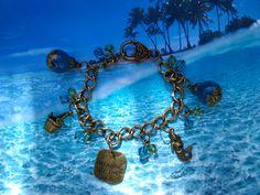 """Dreaming of the Sea"" bronze tone bracelet"