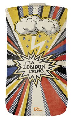 'Its A London Thing' Leather Phone Case (available for iPhone 4/4S/5, HTC One X/V, Samsung Galaxy S3