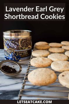 I love a good shortbread cookie and these Lavender Earl Grey Shortbread Cookies are my new favorite! They're light and buttery and so easy to make. The easiest way to make these Earl Grey shortbread cookies is by using a food processor. #tearecipes #foodprocessorrecipe #easycookie #bestshortbreadcookie #blenderrecipes #earlgrey #shortbreadcookiesbuttery