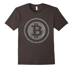 72a5a1a7edad Mens Vintage Bitcoin T-Shirt For Crypto Currency Traders 2XL Asphalt  Branded T Shirts,