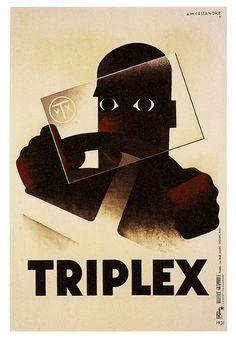 Triplex by A M CASSANDRE 1931
