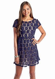 Speechless Floral Lace Skater Dress #BelkStyle #Dresses