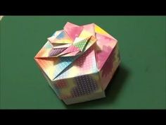 Hexagon Box Base (Modular 2 Unit): Daily Origami - 457 [TCGames HD] - YouTube