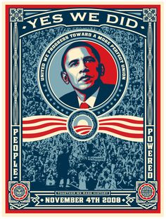 Campaign Poster Ideas   Shepard Fairey / Obey Giant Obama Campaign Posters