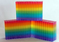 Over the Rainbow Glycerin Soap for Rainy Days by CaliseSoapworks, $6.00