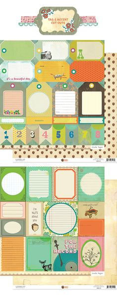 Acorn Avenue Journaling Cards | Crate Paper | These are so cute!