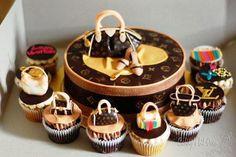 Handbag Cake & Cupcakes