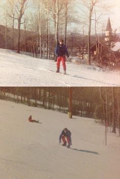 My first day snowboarding circa 1990 at Stratton Mountain Vermont
