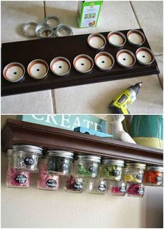 11 genius organizing hacks for the most type a person in your life, organizing, storage ideas, Project via Kelsey Poofy Cheeks Jar Storage, Craft Storage, Storage Ideas, Spice Storage, Storage Hacks, How To Clean Copper, Ideas Para Organizar, Organization Hacks, Getting Organized