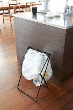 Yamazaki Home Tower Folding Trash Bag Stand