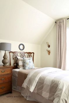 Savvy Southern Style: Spring Style Bedroom And How To Make A Bed Taller