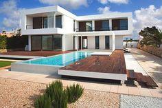 Modern-Villa-Menorca. Where to sit? Van de Sant lounge settings will do well here...