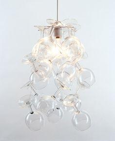 Wine glass light fitting in 2019 | Wine glass chandelier ...