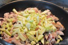 Piept-de-pui-cu-ciuperci-si-dovlecei-Rina (9) Pasta Salad, Ethnic Recipes, Food, Salads, Meal, Essen, Cold Noodle Salads, Hoods, Noodle Salads