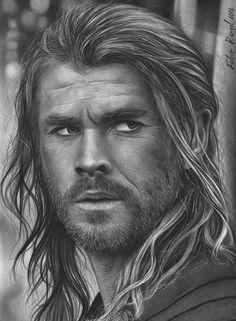 Huntsman- Chris Hemsworth pencil art