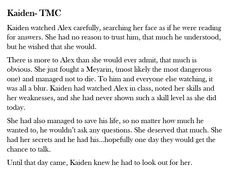 I wrote this based on the time after the SAS trip in Realia, where Kaiden had rescued Alex.